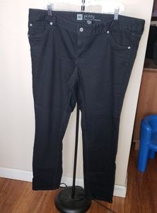Size 18S Black Denim Pants